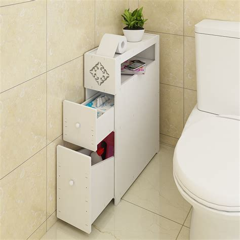 bathroom narrow storage usd 46 65 bathroom toilet side cabinet waterproof