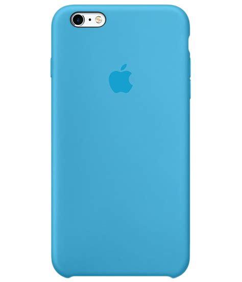 apple silicone case  iphone  blue plain