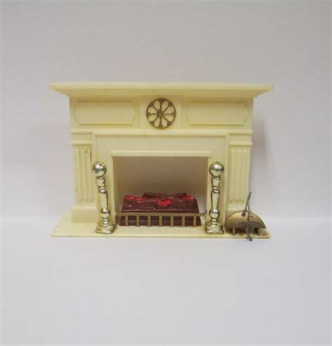 vintage 1960s marx fireplace 1964 little hostess dollhouse furniture hard plastic