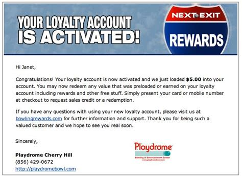 account activation email template loyal patron