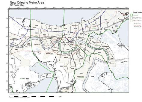 zip code map new orleans workingmaps com zip code maps