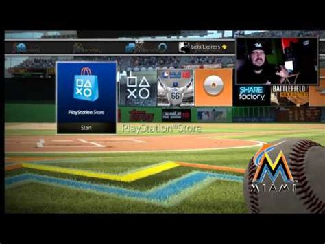 ps4 themes mlb ps4 mlb dynamic theme overview miami marlins youtube