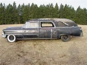 1955 Cadillac Ambulance 1955 Cadillac Hearse Abandoned