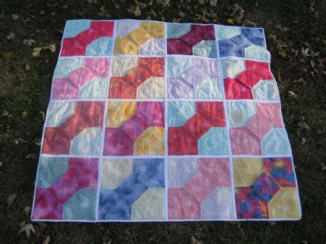 Dimensional Bow Tie Quilt Pattern by Pondering Cat Quilt Gallery 2015