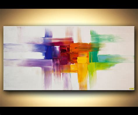 contemporary painting ideas original abstract art paintings by osnat colorful