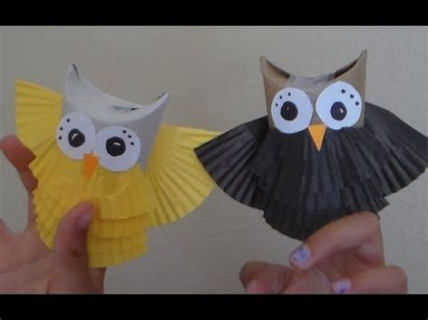 How To Make A Paper Owl - how to make owl puppets reusing toilet paper