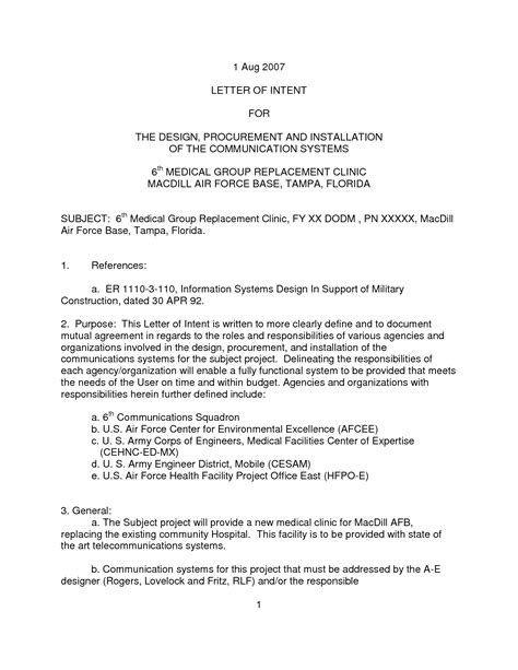 Letter Of Intent For Rfp Exle army letter of intent template 28 images best photos