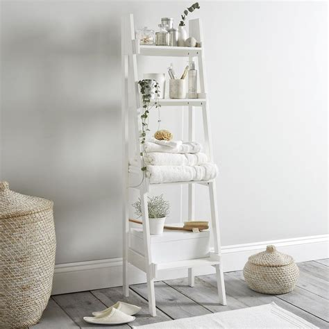 White Bathroom Shelves The 25 Best Bathroom Ladder Shelf Ideas On White Laundry Room Furniture