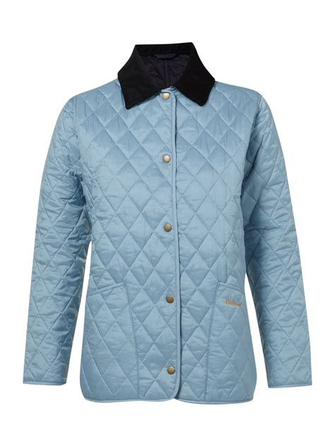 barbour shaped liddesdale quilted jacket in blue lyst