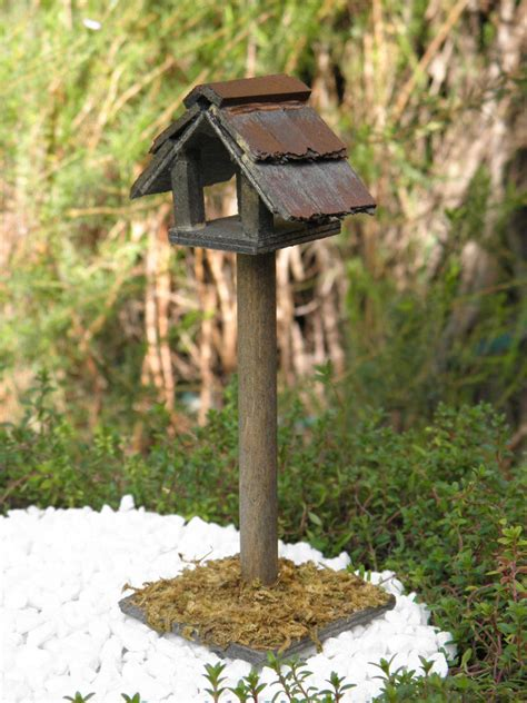 Garden Accessories On Ebay Miniature Garden Accessories Wood Wooden Birdhouse