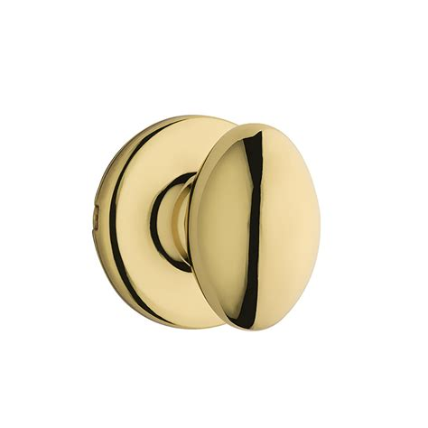 Egg Door Knob by Shop Kwikset Aliso Polished Brass Egg Passage Door Knob At