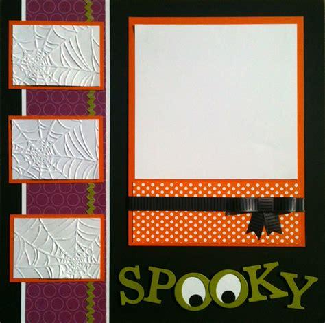 scrapbook layout video scrap happens halloween scrapbook layouts