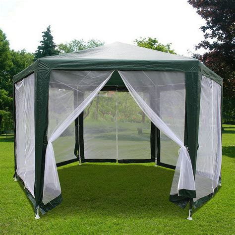 tent backyard quictent 174 6 6x 6 6 x 6 6 hexagon party tent canopy screen