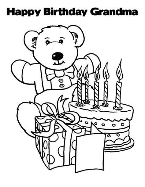 happy birthday grandma coloring pages best place to color