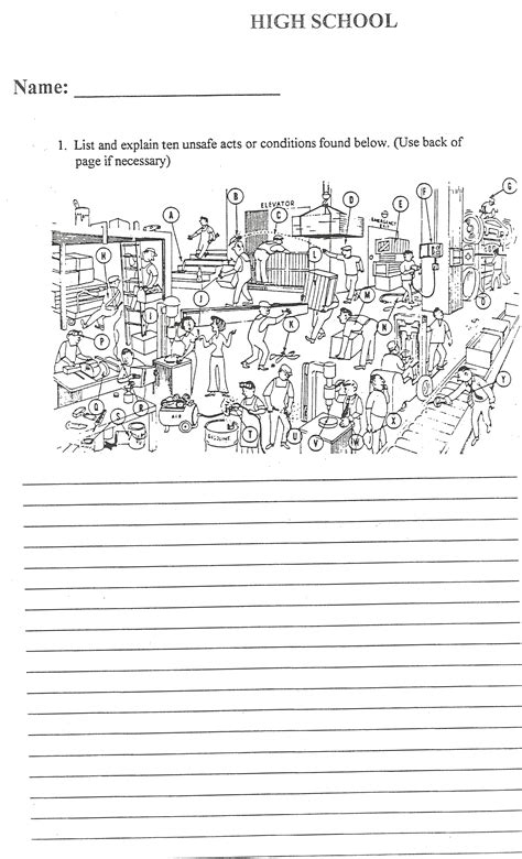 School Safety Worksheets by Resized Back For Onlinebindertd12