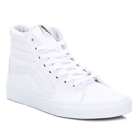 vans high tops white sk8 hi suede trainers laceup