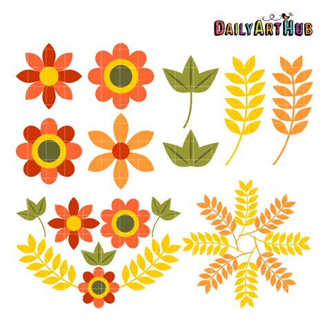autumn flowers autumn flowers clip cliparts