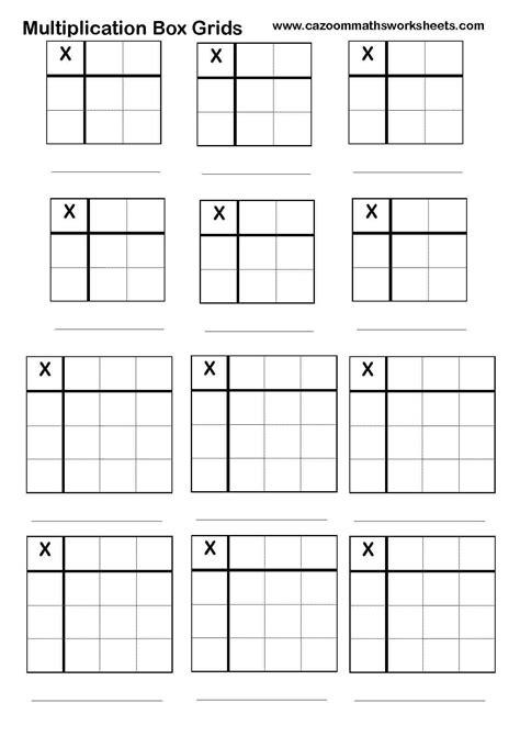 printable multiplication grid worksheet multiplication grid worksheet blank create your own
