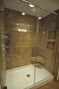 shower stall base with seat interior exterior doors