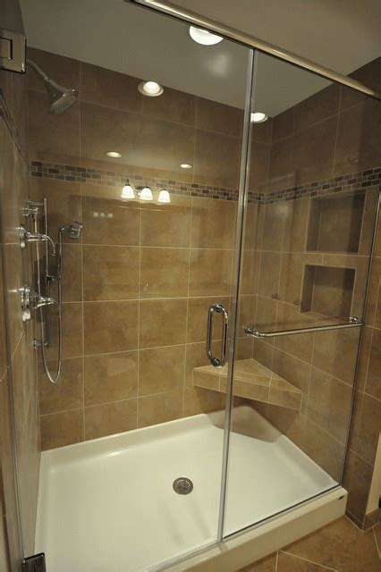 Bathroom Shower Pan Fiberglass Base Tile Walls In Wauwatosa Wi Traditional Bathroom Milwaukee By Borth