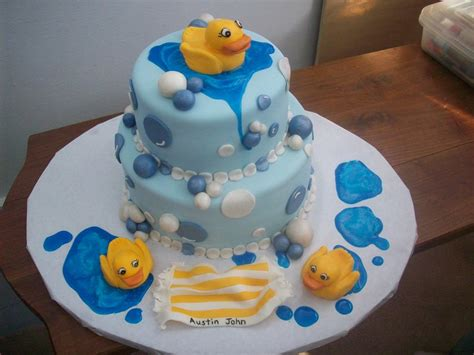 Rubber Duckie Baby Shower Cake by Baby Shower Rubber Duck Cake Cakecentral