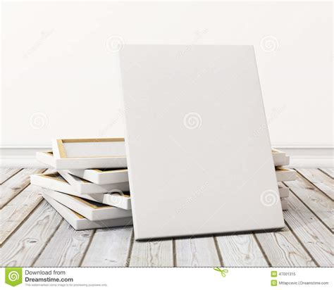canvas layout online mock up blank canvas or poster with pile of canvas on