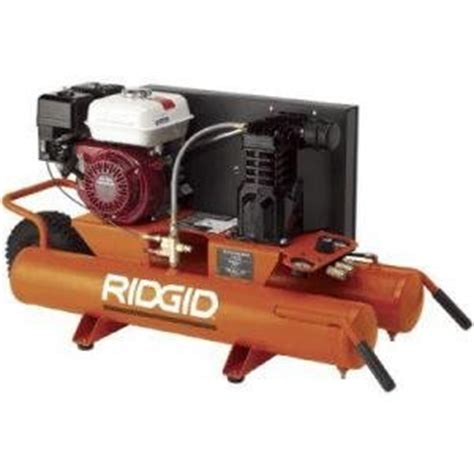 gas air compressor factory reconditioned ridgid 9 gallon portable gas powered air compressor