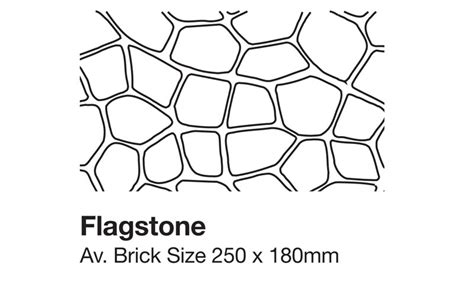 Stenciled Concrete Thundercrete Flagstone Pattern Template