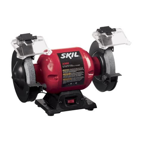bench grinders at lowes shop skil 6 in bench grinder with led work light at lowes com