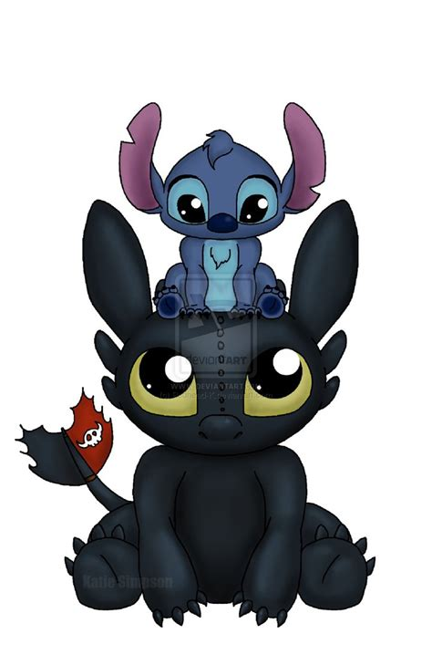 Stitch With stitch is my favorite but i can say that toothless isn t