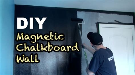diy how to make a magnetic chalkboard wall youtube