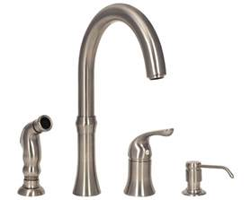 sink faucet design brushed nickel 4 hole kitchen faucets