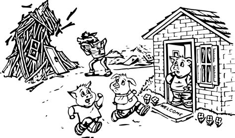 printable coloring pages three little pigs bad wolf blowing 3 little pigs coloring page wecoloringpage