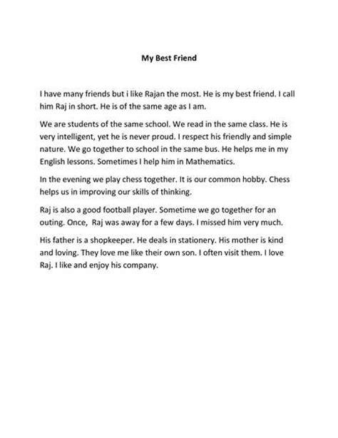 my best friend essay for class 6 term paper service