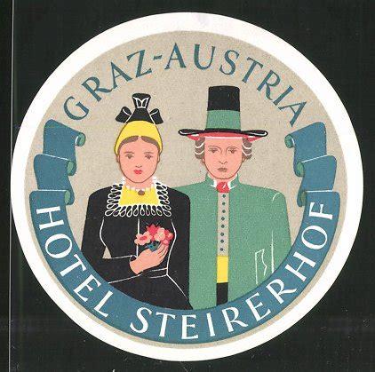 Kofferaufkleber Alt by Kofferaufkleber Graz Hotel Steirerhof Paar In Tracht Nr