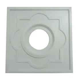 square ceiling medallions shop portfolio white ceiling fan medallion at lowes