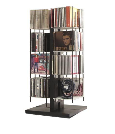 porta cd colonna porta cd a colonna in legno naturale o nero 100 cd zia