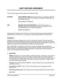 Joint Venture Term Sheet Template by Letter Of Intent Joint Venture Template Free Sle Term