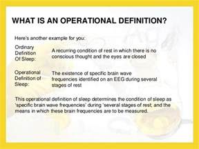 Meaning Of Operational Definition Picture And Images