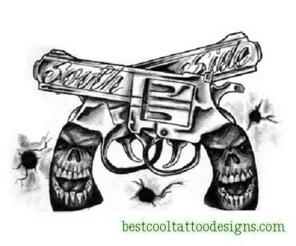 skull gun tattoo designs gun designs