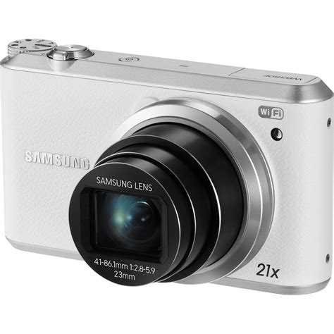 Samsung Wb350f by Samsung Wb350f Smart Digital White Ec Wb350fbpwus B H