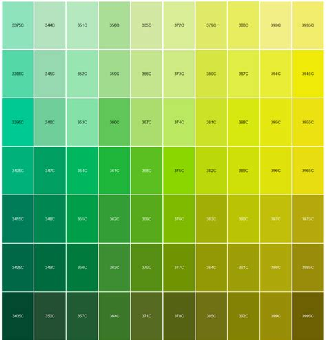 pantone green green pantone color chart pictures to pin on pinterest