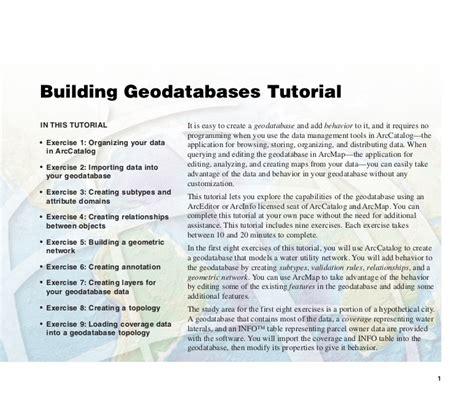 arcgis sde tutorial building geodatabases tutorial