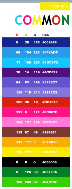 Color Combinations With Orange by Common Color Schemes Color Combinations Color Palettes