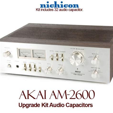 capacitor upgrade akai am 2600 upgrade kit audio capacitors
