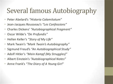 famous person to write a biography on an introduction to autobiography and biography