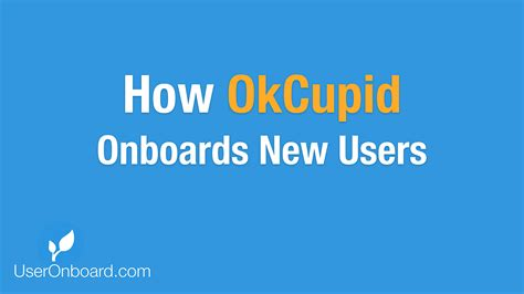How To Search For On Okcupid How Okcupid Onboards New Users User Onboarding