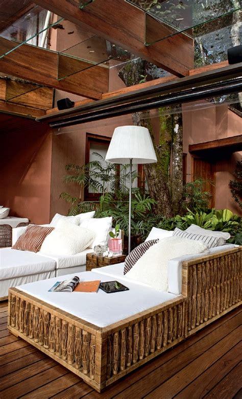 luxurious summer veranda design  glass walls