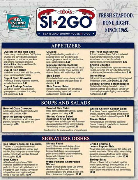 sea island shrimp house san antonio tx sea island shrimp house seafood restaurant menu in san antonio