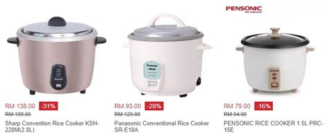 Rice Cooker Yang Murah ecommerce in malaysia shopping website and travel